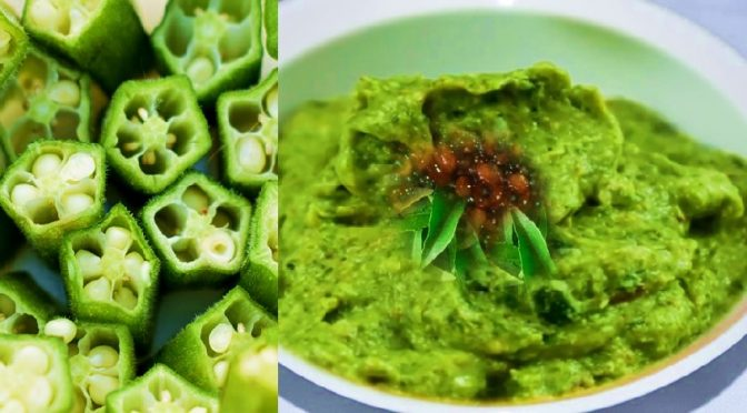 Diabetes Okra green chutney recipe