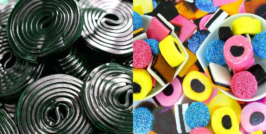 Black licorice and candies