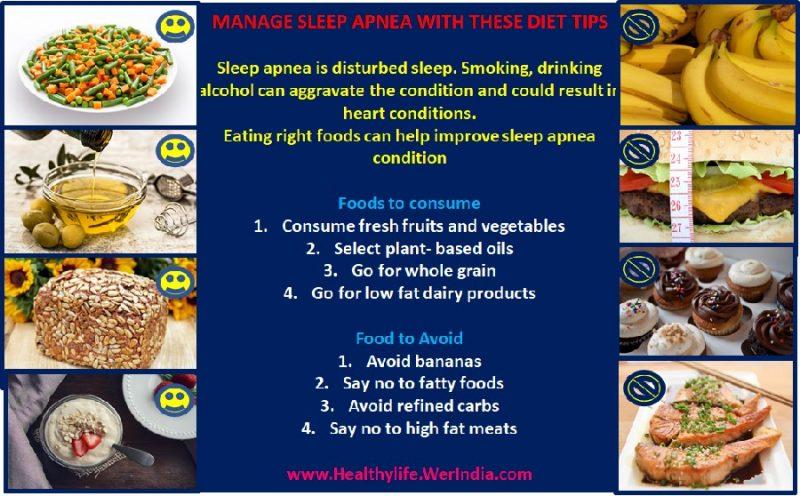 Sleep apnea diet tips