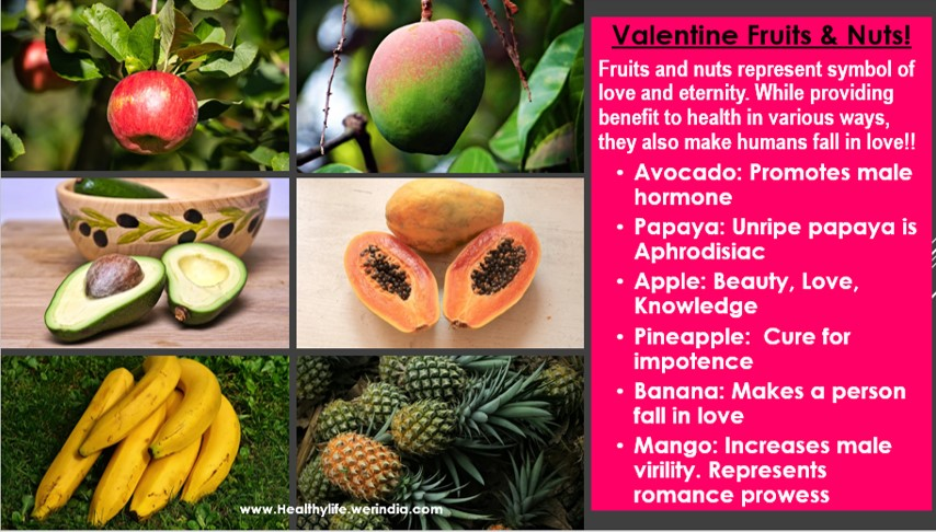 Valentine Day Fruits and nuts