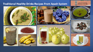 Traditional Nutritional and Healthy Ayurvedic Drinks Recipes