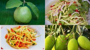 Raw guava mango salad