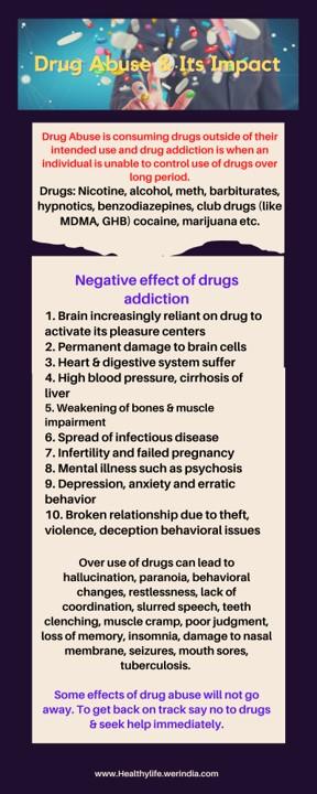 Drug abuse infographic